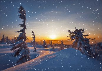 Красивая зима со снегом